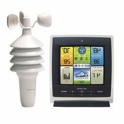 AcuRite 00589 Pro Color Weather Station with Wind Speed, Tem