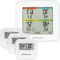 AcuRite 01095M Indoor Temperature & Humidity Station with 3
