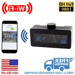 1080P HD WiFi Streaming Weather Station Clock Radio with Rot
