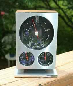 1960s MCM Taylor Instrument Weather Station: Barometer, Ther