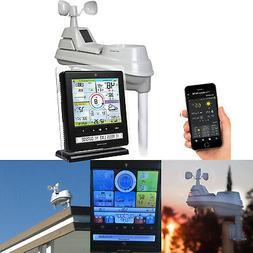 5-in-1 Wireless Weather Station Sensor w/ Smart PC Phone Con