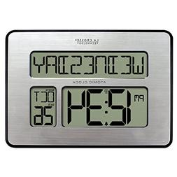 La Crosse Technology 513-1419BL Atomic Digital Wall Clock wi