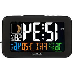 La Crosse Technology 617-1485B LED Color Alarm Clock with US