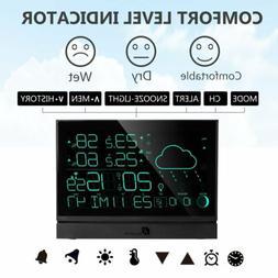 7.5'' Digital Weather Station Indoor Outdoor Temp Weather Fo