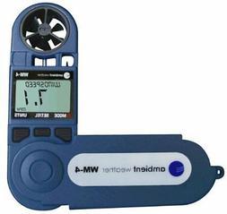 Ambient Weather WM-4 Handheld Weather Station w/Windspeed, D