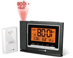 Ambient Weather WS-8365 ClearView Projection Clock with Indo