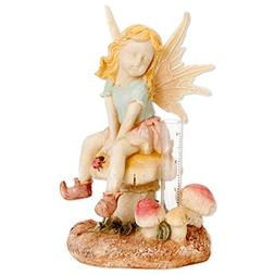 Bits and Pieces - Decorative Fairy Rain Gauge Statue - Track