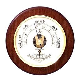 Time Factory AJ-WS070 Barometer with Thermometer on Cherry W