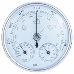 Analog wall hanging weather station 3 in 1 barometer thermom