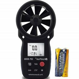 Anemometer Wind Speed Meter Portable Weather Station Hand He