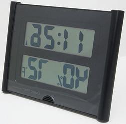 Atomic Time ET-31U Wall Clock Weather Station Digital Temper