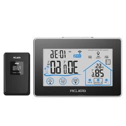 Baldr Weather Station Wall Clock Wireless Digital Touch Hygr