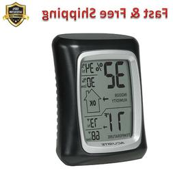 Black Monitor Thermometers Measures Humidity Temperature Wea