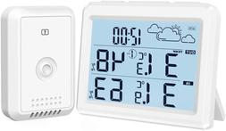 Brifit Weather Station, Digital Indoor Outdoor Thermometer H