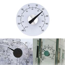 Clear ℉ ℃ Circular Outdoor Window Temperature Thermomete