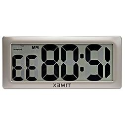 Large Clock with Intelli-Time Technology, 13.5-Inch