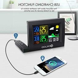 color digital lcd weather station wireless calendar