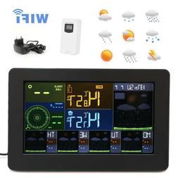 FJW4 Digital Alarm Clock Weather Station Wifi Indoor Outdoor