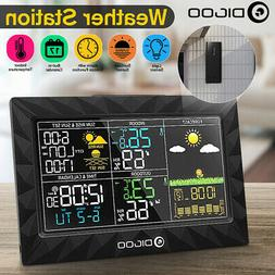 DIGOO Colorful Wireless Weather Station Barometer Thermomete