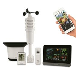 Complete Personal WiFi Weather Station Easy-read Color LCD D