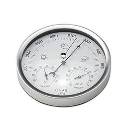 AMTAST Dial Type Weather Station, Barometer with Thermometer