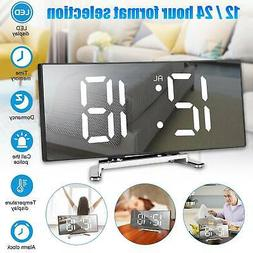 Digital Alarm Clock Snooze LED Home Calendar Time Weather Th