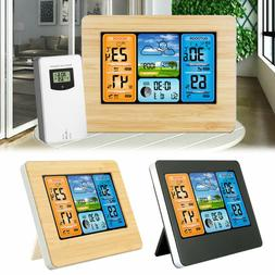 Digital Color Wireless Weather Station Sensor Calendar Therm