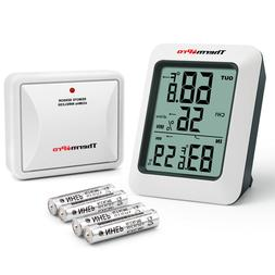 ThermoPro Digital Indoor Outdoor Thermometer Hygrometer Wire