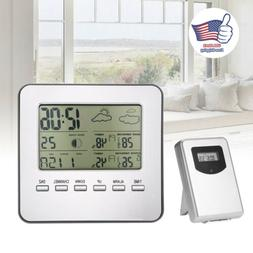 Digital LCD Indoor & Outdoor Weather Station Clock Calendar