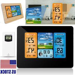 Digital LCD Indoor & Outdoor Weather Station Clock Calendar