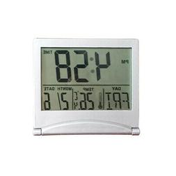 Digital LCD Weather Station Clock Folding Desk Temperature T