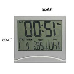 Digital LCD Weather Station Folding Desk Temperature Alarm C
