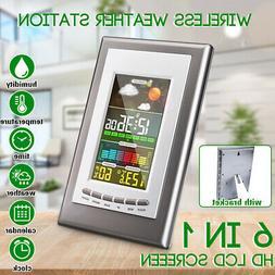 Digital LCD Weather Station Screen Barometer Temperature Cal