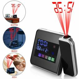 Digital Projection LCD Display Alarm Clock LED with Temperat