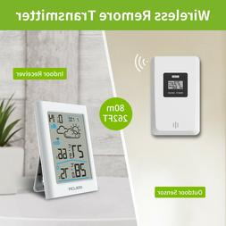 digital weather station wireless clock in outdoor