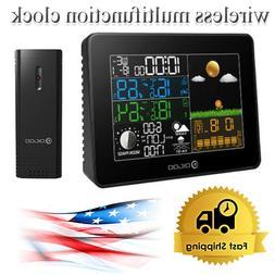 Digoo Digital Wireless clock Color Screen barometric weather