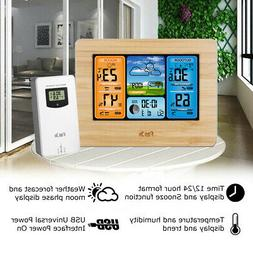 Digital Wireless Indoor/Outdoor Weather Station Clock Thermo