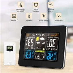 Digital Wireless Weather Station Daily Alarm Clock Humidity
