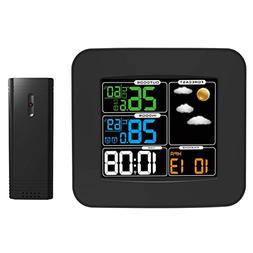 Alloet Color Display Wireless Digital Weather Station Temp H