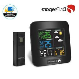 dr prepare digital color wireless weather station