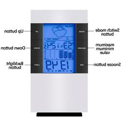 Electronic Digital LCD Backlight <font><b>Thermometer</b></f