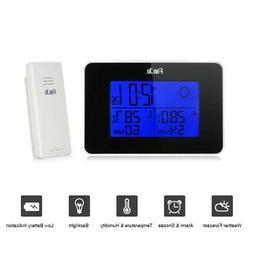 FanJu Battery Operated Digital Backlight LCD Weather Station