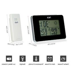 FanJu Battery Operated Digital Weather Station Alarm Clock I