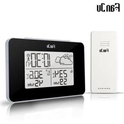 FanJu FJ3364 Weather Station with Alarm Clock with Indoor Ou