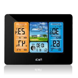 FanJu FJ3373 Digital Weather Station Alarm Clock with Temper