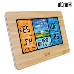 FanJu FJ3373B Wireless Weather Station Color Forecast with Temperature Humidity