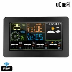 FanJu FJW4 Digital Wall Clock Weather Station wifi Indoor Ou