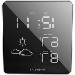 Frigidaire Wireless Square Mirrored Extra Bright LED Forecas