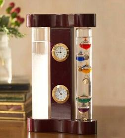 Galileo Weather Station with Storm Glass, Clock and Hygromet