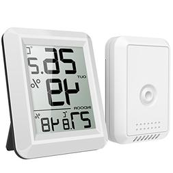AMIR Indoor Outdoor Thermometer, Digital Hygrometer, Humidit